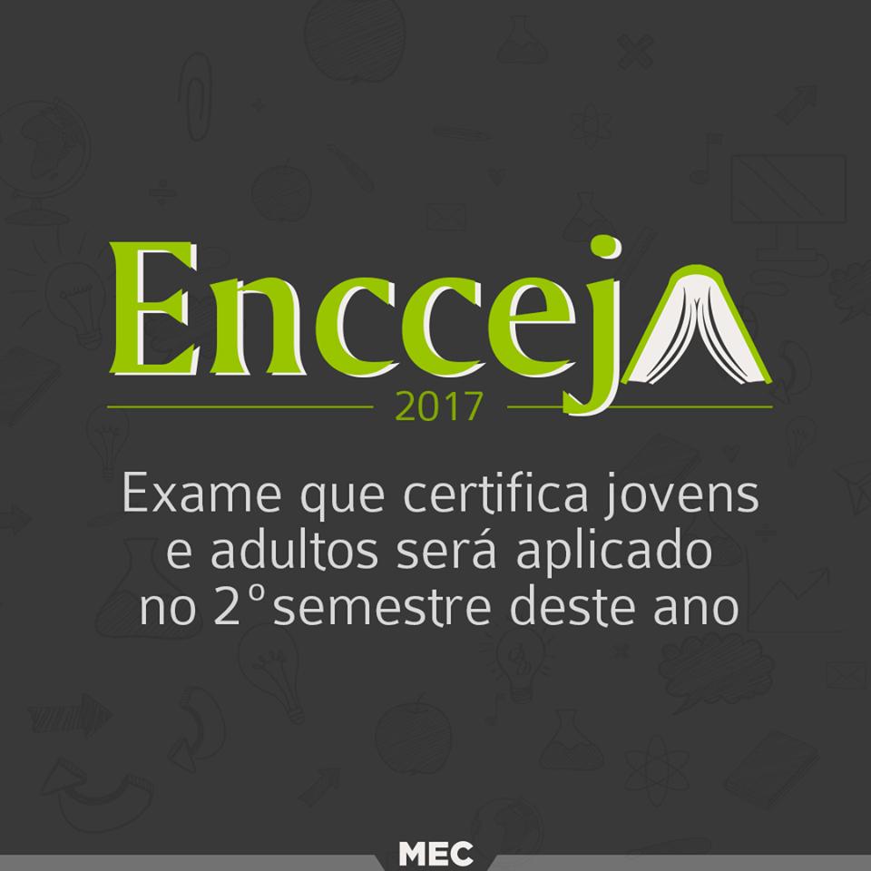Encceja - Exame de certificação do ensino fundamental e médio tem cronograma publicado