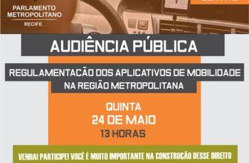 Parlamento Metropolitano promove audiência pública sobre a regulamentação do Uber